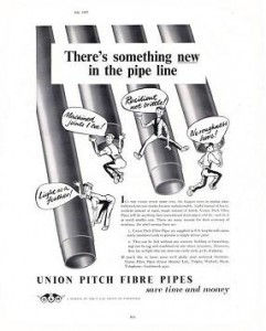 Pitch Fibre Drains Systems - 50s Advert