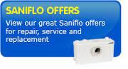 Saniflo Sani Flo Plus Macerators repairs, service and replacement.